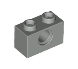 LEGO Light Gray Technic Brick 1 x 2 with Hole (3700)