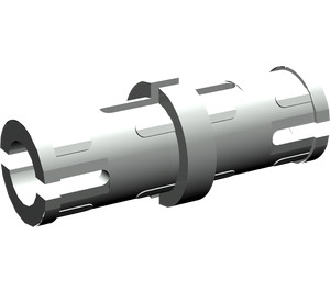 LEGO Light Gray Technic Pin with Friction Ridges and Slots (2780)