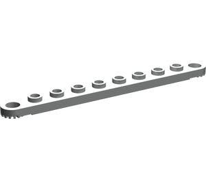 LEGO Light Gray Technic Plate 1 x 10 with Holes (2719)