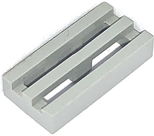 LEGO Light Gray Tile 1 x 2 Grille (with Bottom Groove) (2412)