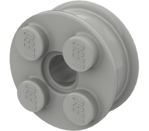 LEGO Light Gray Wheel Rim 10 x 17.4 with 4 Studs and Technic Peghole (6248)