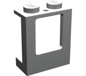LEGO Light Gray Window 1 x 2 x 2 with 2 Holes in Bottom (2377)