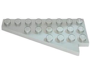 LEGO Light Gray Wing 4 x 8 Left with Underside Stud Notch (3933)
