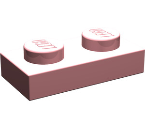 LEGO Light Pink Plate 1 x 2