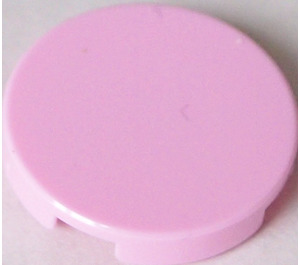 LEGO Light Pink Round Tile 2 x 2 with Bottom Stud Holder