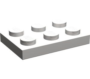 LEGO Light Stone Gray Plate 2 x 3