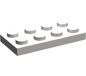 LEGO Light Stone Gray Plate 2 x 4 (3020)