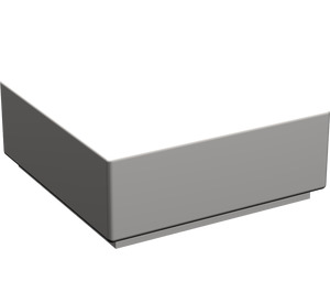 LEGO Light Stone Gray Tile 1 x 1 with Groove (3070)