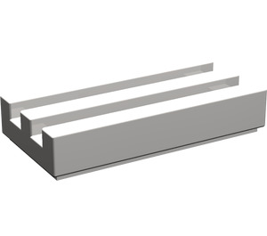 LEGO Light Stone Gray Tile 1 x 2 Grille (with Bottom Groove) (2412)