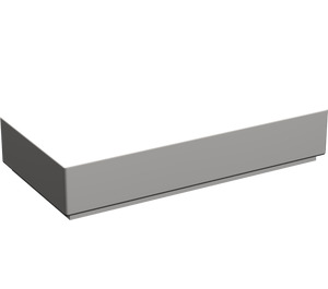 LEGO Light Stone Gray Tile 1 x 2 with Groove (3069)