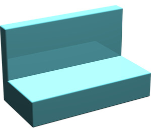 LEGO Light Turquoise Panel 1 x 2 x 1 without Rounded Corners