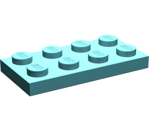 LEGO Light Turquoise Plate 2 x 4 (3020)