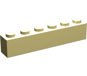 LEGO Light Yellow Brick 1 x 6 (3009)