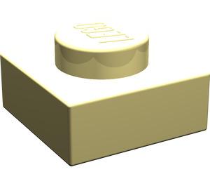 LEGO Light Yellow Plate 1 x 1 (3024)