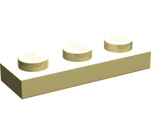 LEGO Light Yellow Plate 1 x 3 (3623)