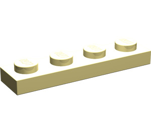 LEGO Light Yellow Plate 1 x 4 (3710)