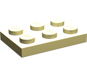 LEGO Light Yellow Plate 2 x 3 (3021)