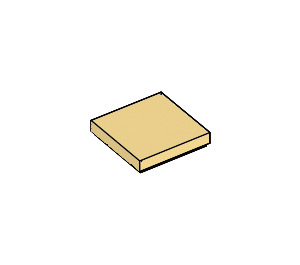 LEGO Light Yellow Tile 2 x 2 with Groove (3068)