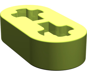 LEGO Lime Beam 2 x 0.5 with Axle Holes