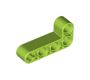 LEGO Lime Beam 2 x 4 Bent 90 Degrees, 2 and 4 holes (32140 / 42137)