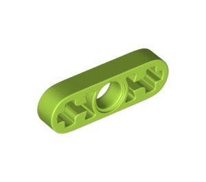 LEGO Lime Beam 3 x 0.5 with Axle Holes (6632)