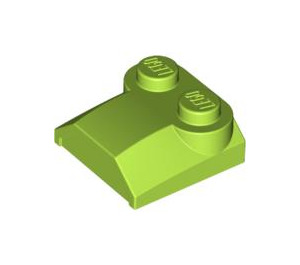 LEGO Lime Bonnet 2 x 2 x 2/3 without Curved End (41855)