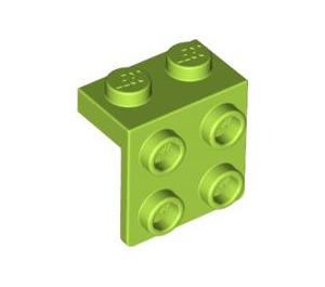 LEGO Lime Bracket 1 x 2 - 2 x 2 (21712 / 44728 / 92411)