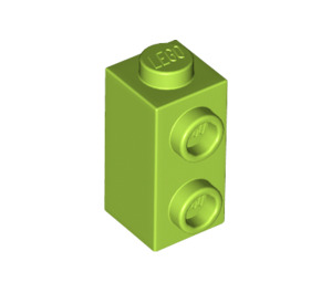 LEGO Lime Brick 1 x 1 x 1.3 with Two Side Studs (32952)