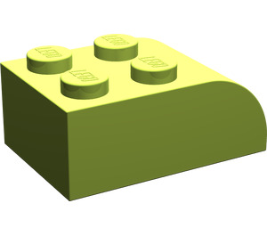 LEGO Lime Brick 2 x 3 with Curved Top