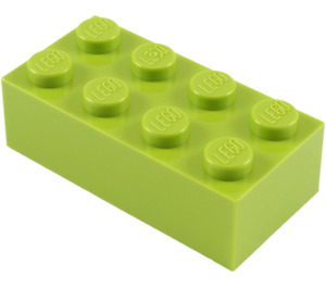 LEGO Lime Brick 2 x 4 (3001)