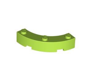 LEGO Lime Brick Corner 4 x 4 (Wide with 3 Studs) (48092)