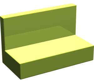 LEGO Lime Panel 1 x 2 x 1 without Rounded Corners