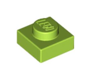 LEGO Lime Plate 1 x 1 (3024)