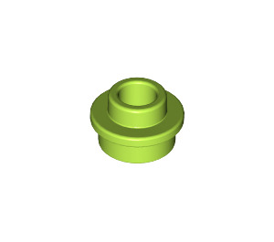 LEGO Lime Plate 1 x 1 Round with Open Stud (28626)
