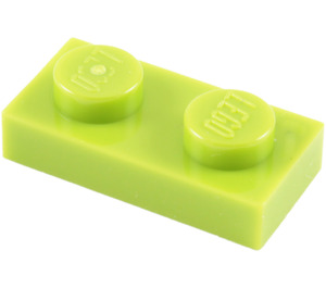 LEGO Lime Plate 1 x 2 (3023)