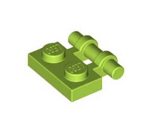 LEGO Lime Plate 1 x 2 with Handle (Open Ends) (2540)