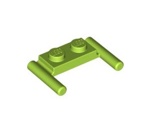 LEGO Lime Plate 1 x 2 with Handles (Low Handles) (3839)