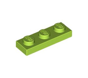 LEGO Lime Plate 1 x 3 (3623)