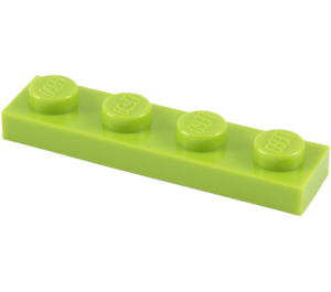 LEGO Lime Plate 1 x 4 (3710)