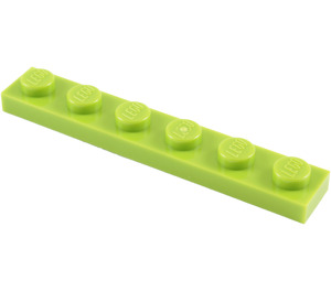 LEGO Lime Plate 1 x 6 (3666)