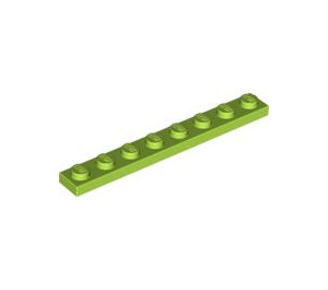 LEGO Lime Plate 1 x 8 (3460)