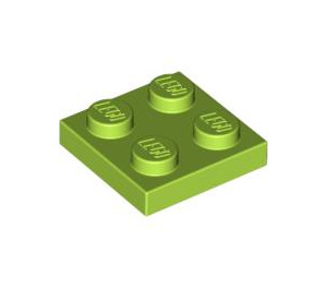 LEGO Lime Plate 2 x 2 (3022 / 94148)
