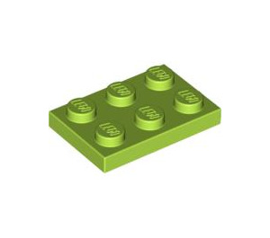 LEGO Lime Plate 2 x 3 (3021)