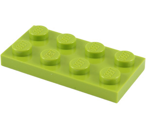 LEGO Lime Plate 2 x 4 (3020)