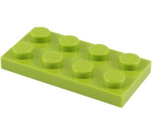 LEGO Lindgrün Platte 2 x 4 (3020)