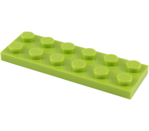 LEGO Lime Plate 2 x 6 (3795)