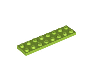 LEGO Lime Plate 2 x 8 (3034)