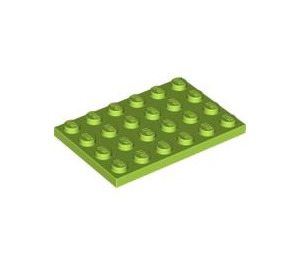LEGO Lime Plate 4 x 6 (3032)