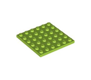 LEGO Lime Plate 6 x 6 (3958)