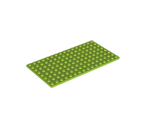 LEGO Lime Plate 8 x 16 (92438)